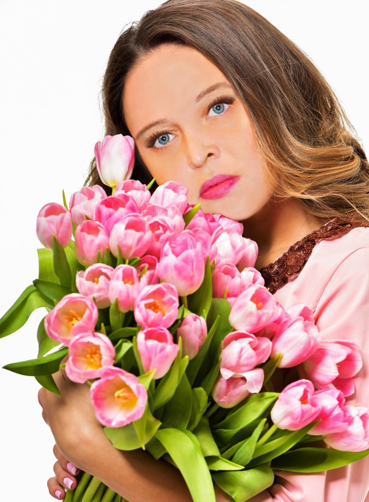 Открытка красивой девушки, открытки марта маме