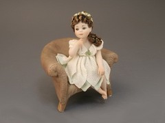 """Фарфоровая кукла  """"Джульетта """".  Размер: высота 19 см. ширина 12 см. Материал: фарфор (статуэтка изготовлена..."""