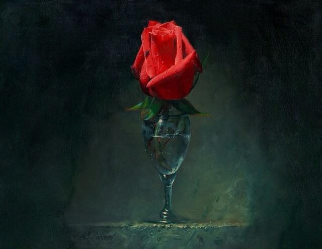 фото одинокая роза