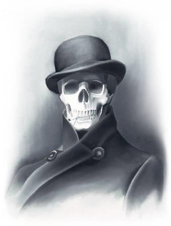 скелет в шляпе