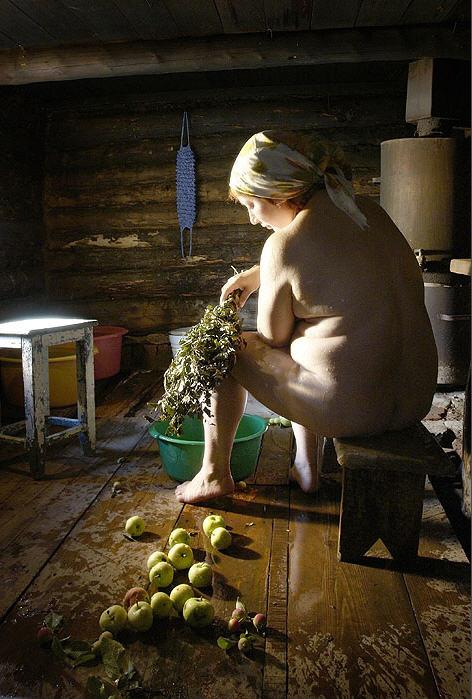русская деревенская банька бабы