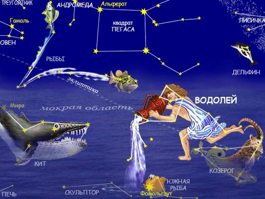 для как выглядит созвездие водолей августе достаточно