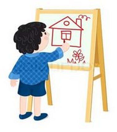 Ребенок рисует дом картинка для детей
