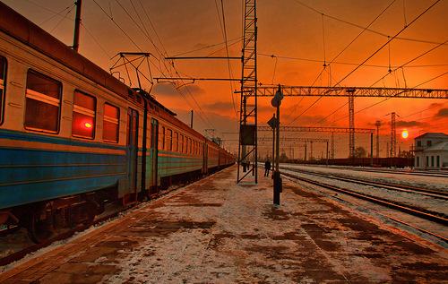 Только поезд в отдаленье
