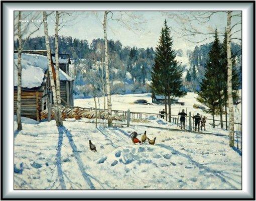 """Сочинение по картине Юона  """"Конец зимы."""