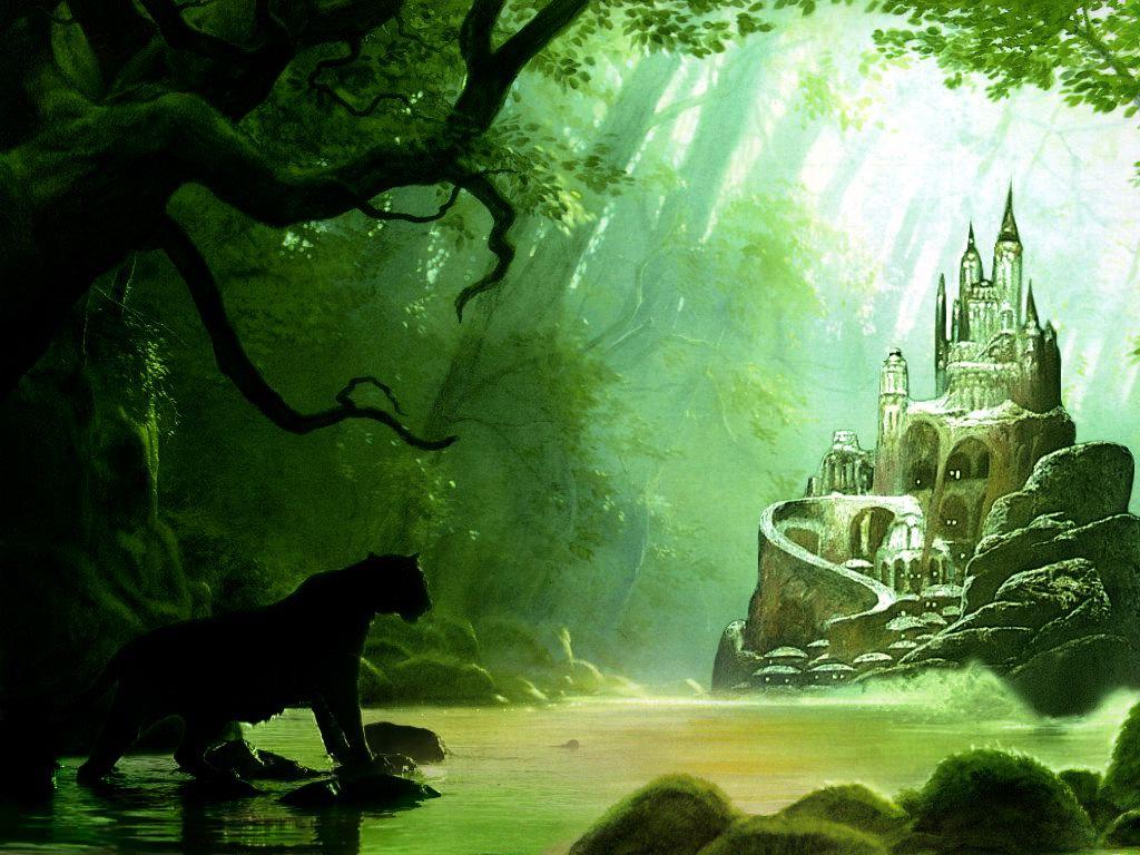 Fantasy forest castles