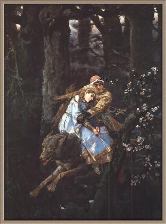 Иван царевич на сером волке в васнецов