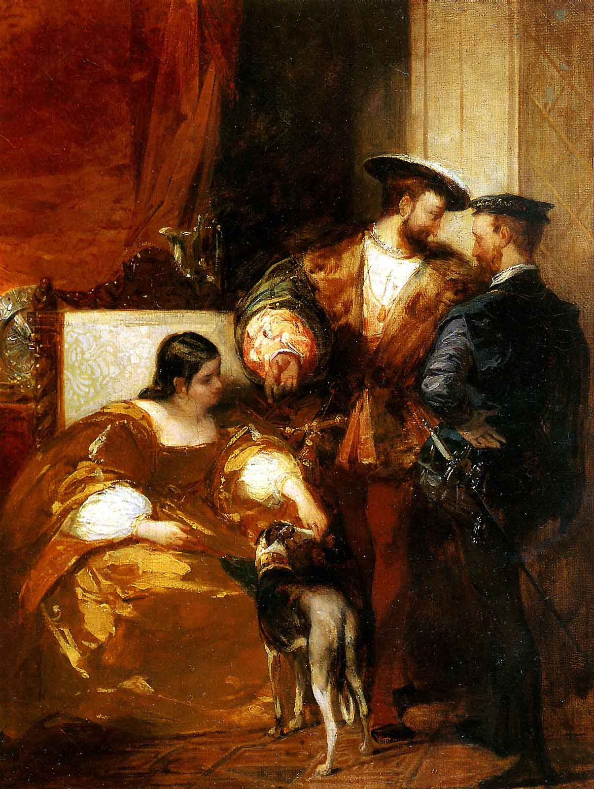 Франциск I и герцогиня д Этамп. Р. Бонингтон. Лувр (Владимир ...