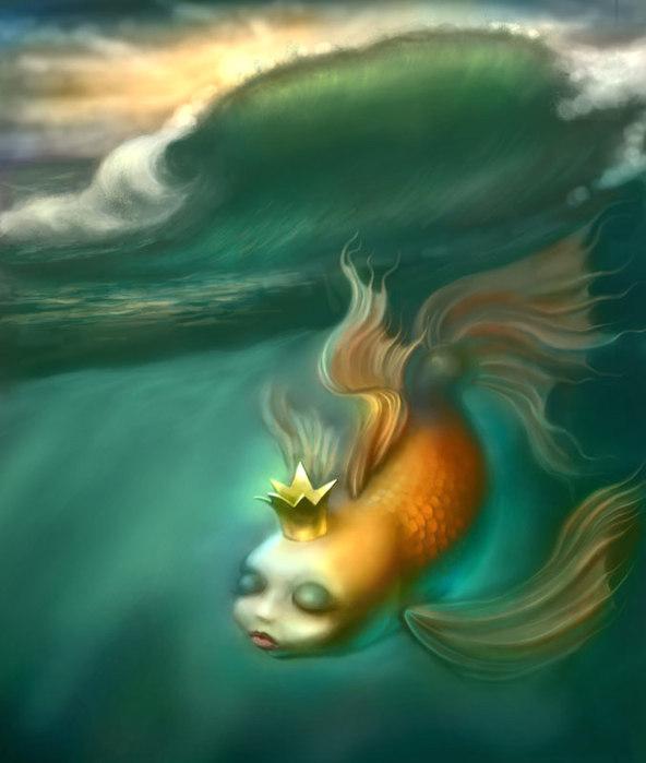 Картинка прикольная золотая рыбка, лет мужчине