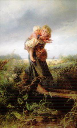 Дети, бегущие от грозы.  К. Маковский.