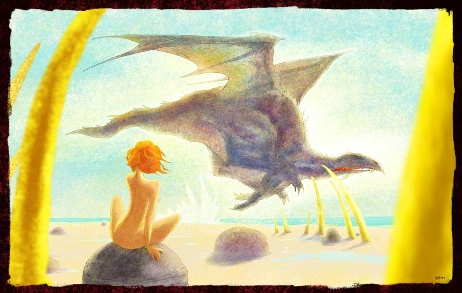 Прилетел дракон на море...
