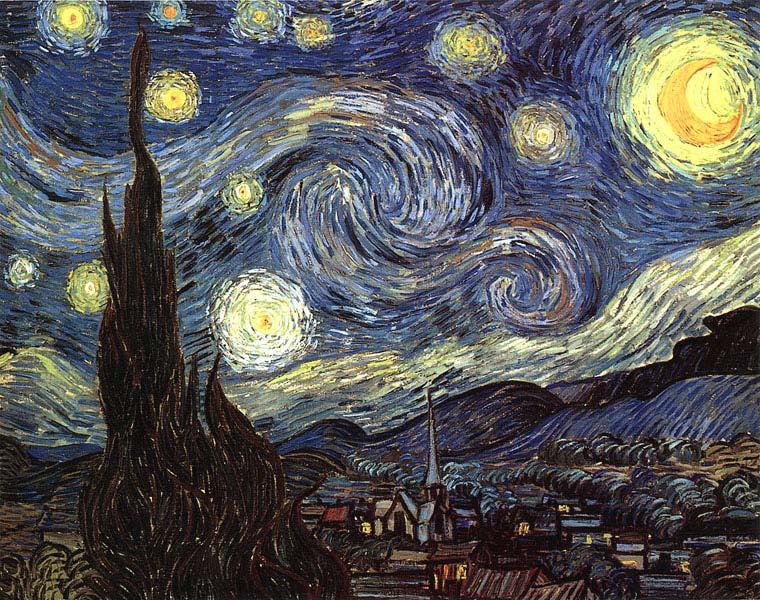 Звёздная ночь по ван Гогу