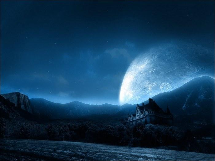 спокойной ночи луна картинки
