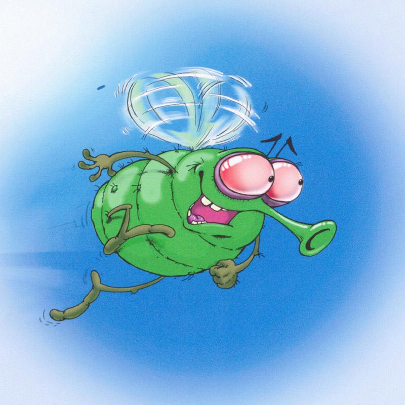 Картинки прикольной мухи, поздравление