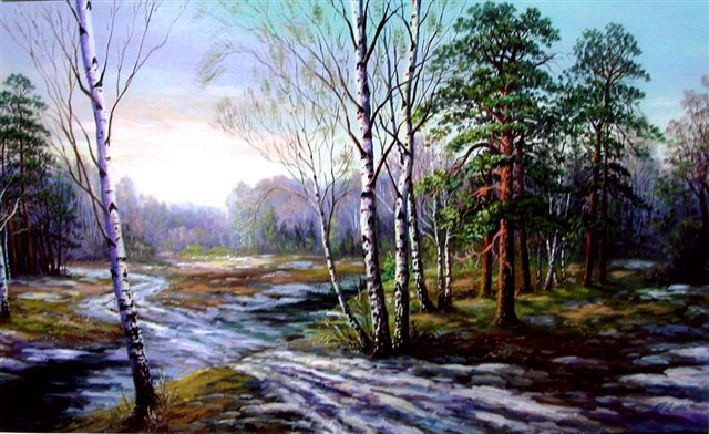 Картина пейзаж экспрессионизм