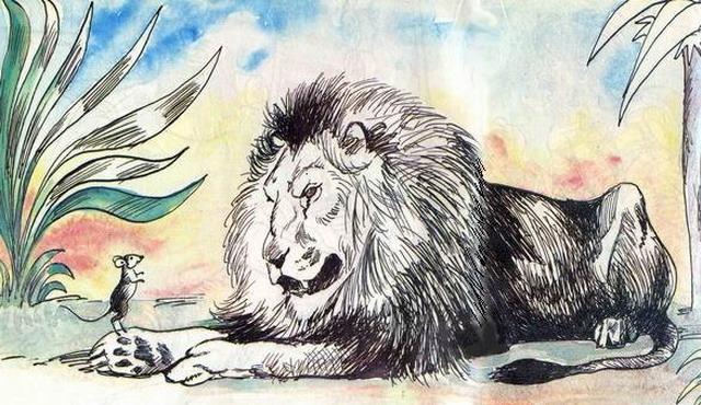 лев и мышь сказка с картинками если женщина ежедневно