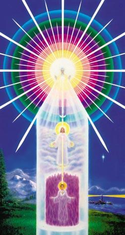Ваше Божественное Я. Матьтерия.  На схеме представлены три фигуры, которые мы будем называть: верхняя...