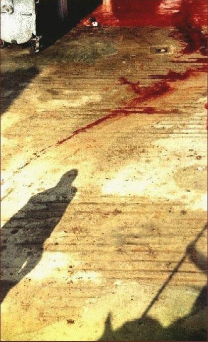 Картинка кровь на песке