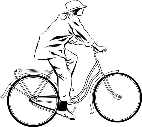 рисунок велосипед: