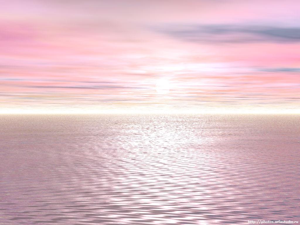 Море цвета чайной розы