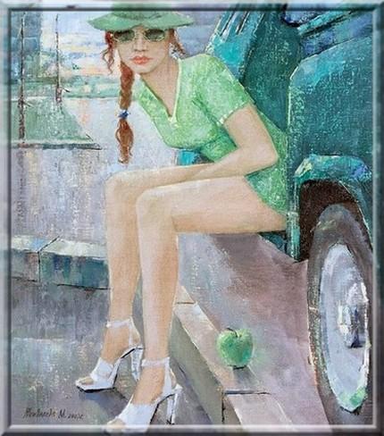 Девчонка-лето в платье яблочном