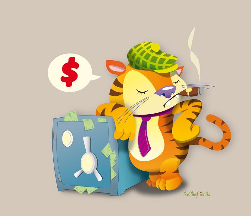 Детская открытка тигр 91