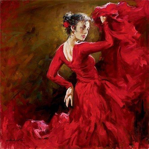 В красном платье стих
