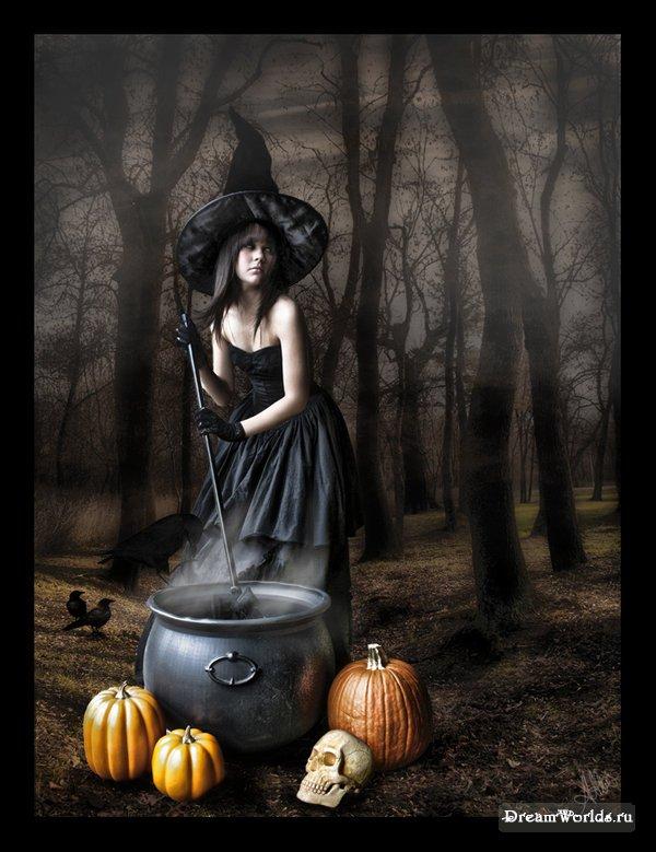 ведьма фото картинки на метле