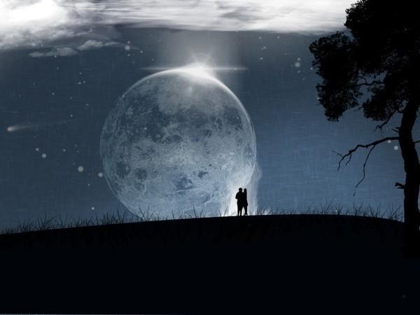 Прогулка под луной стихи