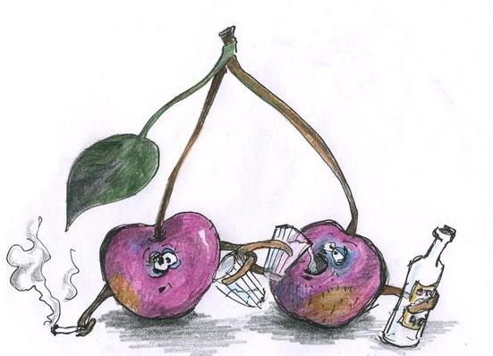 Женщина осень как пьяная вишня