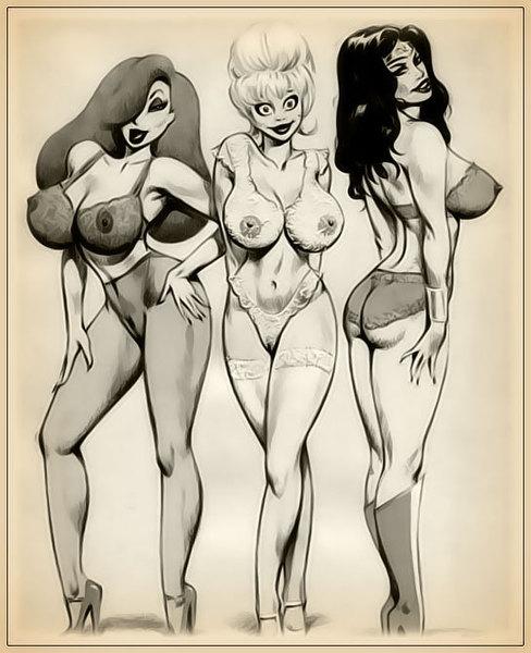 рисованные картинки девушек порно