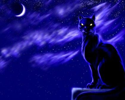 Женщина кошка уходит неслышно