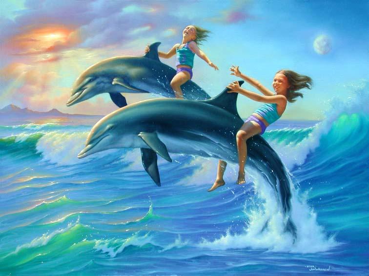 ...только заедь за мной, чтоб катамаран к тебе в машину...  ПРО дельфинов.