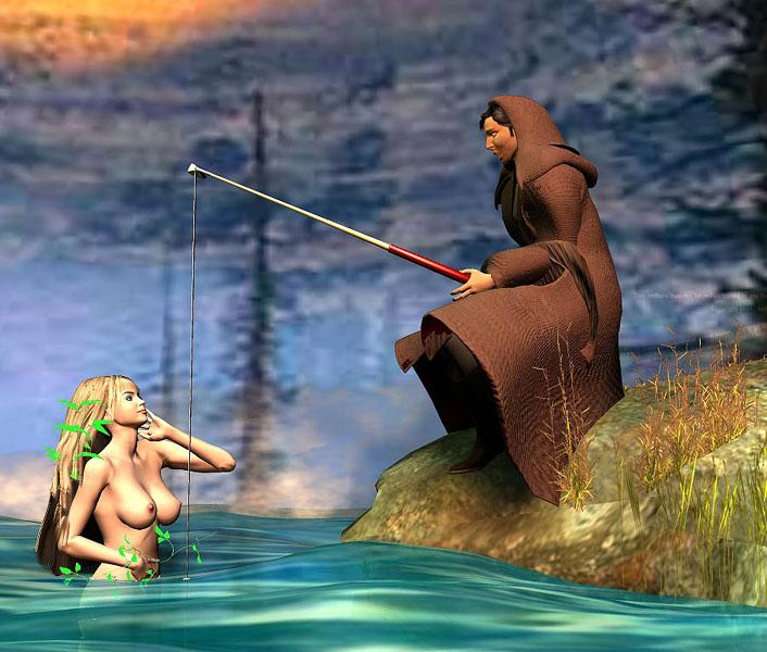 видео рыбак и русалка