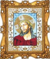 Вышиваем бисером (Россия) Икона Иисус в терновом венце.