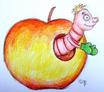 Там такие жуткие фото этих червяков из яблока, я решила, что лучше беременной такое не видеть, вот вам такой...
