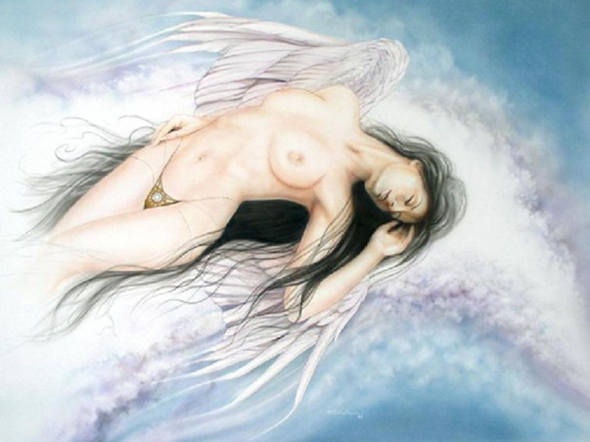 Cartoon angel naked image nude models