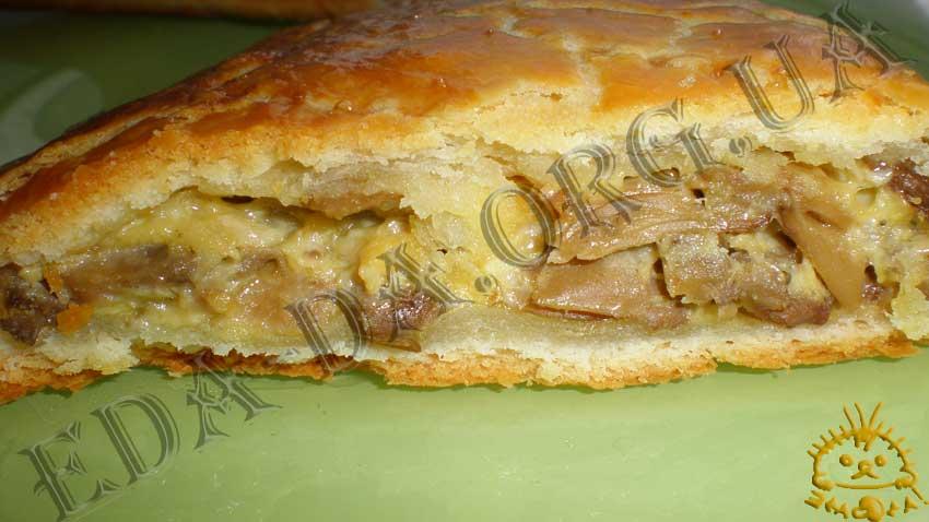 Рецепт пирога с грибами в духовке 142