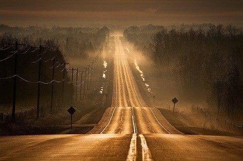 иду домой по знакомой дороге