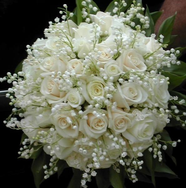 Букет невесты словила