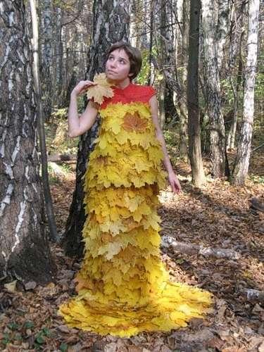 Платье из листьев своим руками 42