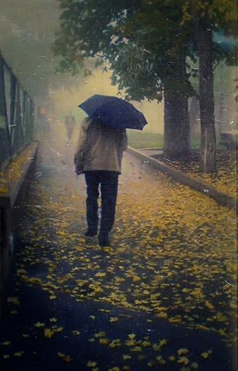 Дождливый вечер в осеннем