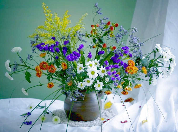 Фото полевые букеты цветов