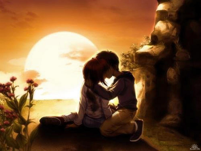 Аниме открытки о любви в аниме