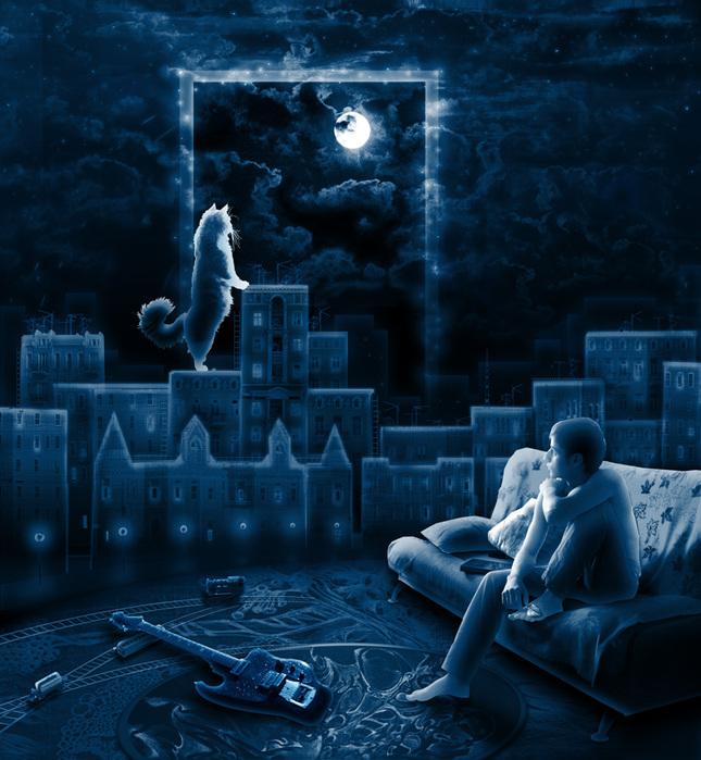 Красивая ночь бессонниц магнит