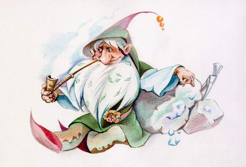 рисунок гнома: