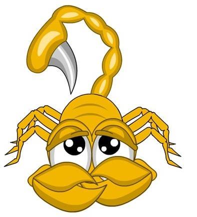 Прикольные рисунки скорпионов