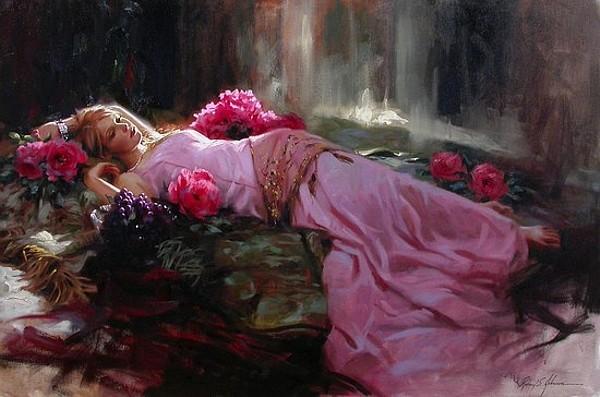 количества сон девушка с цветами каждый