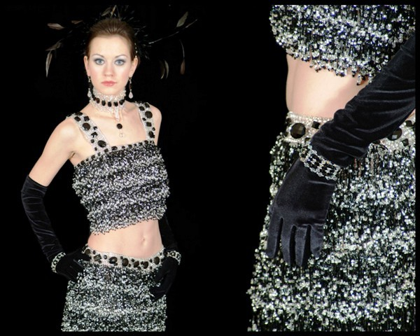 Как вышить цветы на платье из бисера