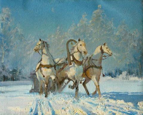 зима тройка картинки